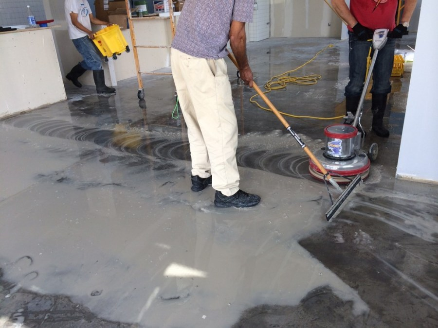 Rusty Tacos Restaurant Stripping and Sealing Floors Post Construction Clean Up in Dallas, Texas