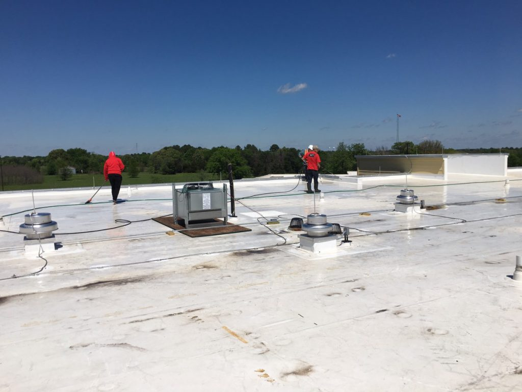 Hotel Marriott Roof Post Construction Cleaning in Van TX 002 1024x768 Hotel Marriott Roof Post Construction Cleaning in Van, TX