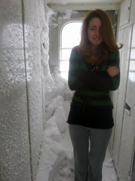 Зима в поезде.