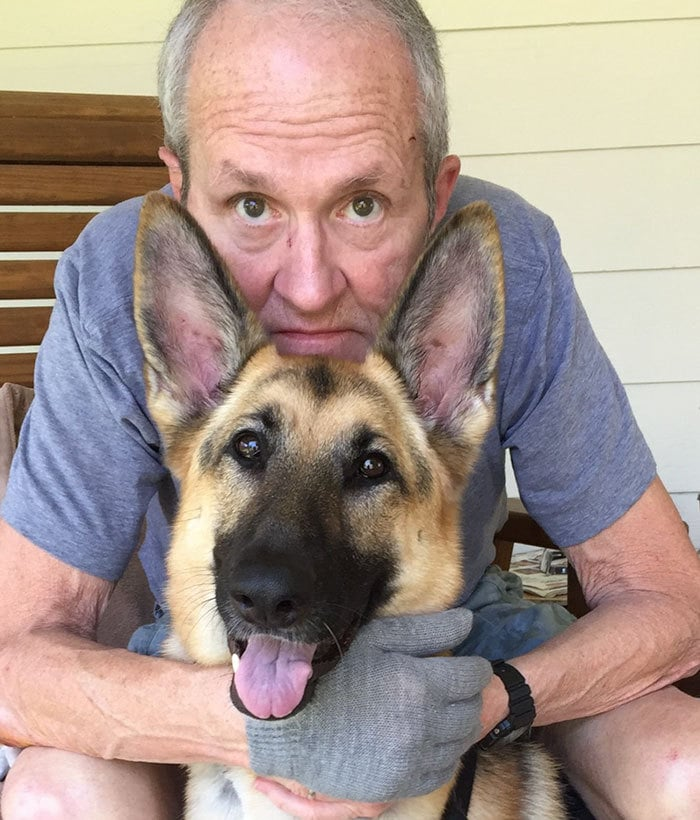 When Jerry Flanigan Was Attacked By Two Pitbulls, His Pet Dog Katy Mae Got On Top Of Him, Shielding His Neck Area With Her Body. According To The Vet She Could