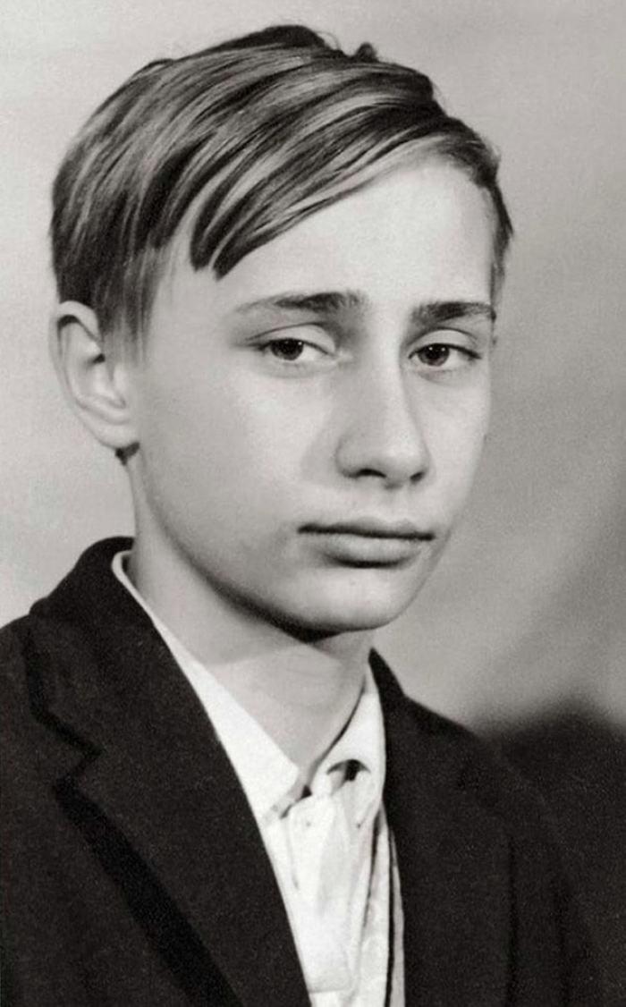 Vladimir Putin As A Young Teenager, 1966