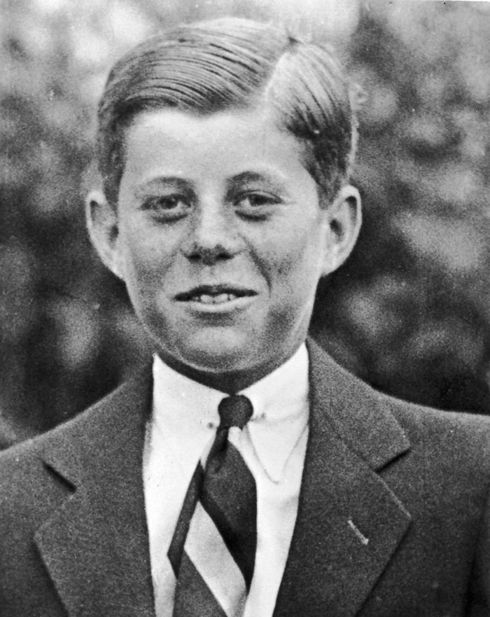 John F. Kennedy At Age 10, Hair Slicked Back, 1927