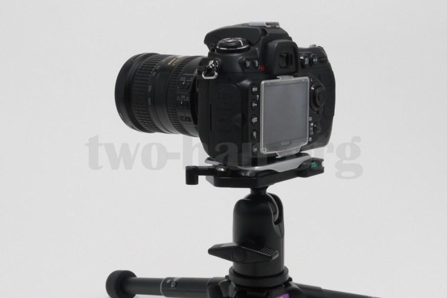 Velbon 自由雲台 クイックシュー装備 QHD-63Q/D300s & 18-200mm-2