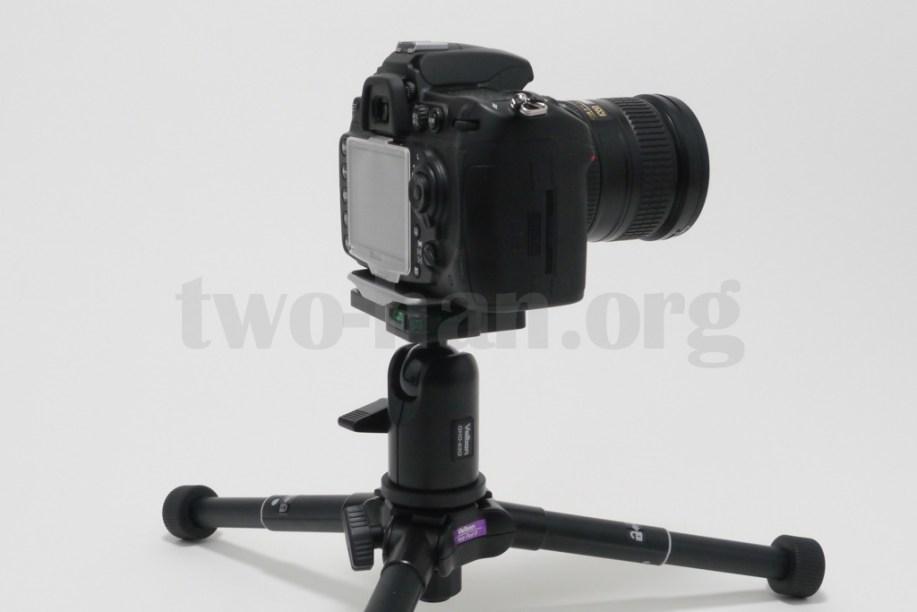 Velbon 自由雲台 クイックシュー装備 QHD-63Q/D300s & 18-200mm-3