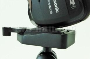 Panasonic HX-WA30・付け根は心もとないが、本体が軽いので大丈夫でしょう...。(^_^;)