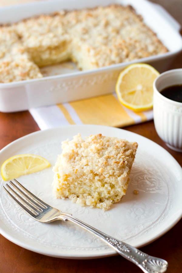 Lemon Cream Cheese Coffee Cake v