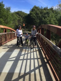 The Gladiator with mom Jenn and Ma Jeanne cruisin' along Santa Rosa Creek.