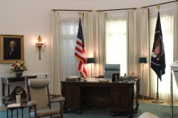 Recreation of LBJ's oval office.