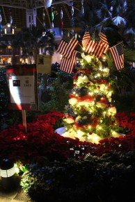 They had several Christmas trees scattered around that were decorated/sponsored by famous artists of the area and were being auctioned off. This one sponsored by the Gatlin Brothers.