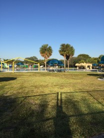The pool area at TY park. It is currently closed for it's season.