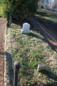 Uncle Alfred, one of AJ's slaves, is buried next to AJ.