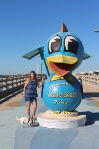 Checking out the Vilano Beach Pier with Woody.