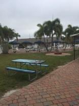 The pool/spa area at Pine Island.