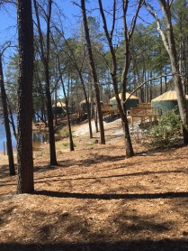 Lakeside yurts for rent, a new addition.