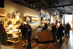 Inside the visitor's center at Evan Williams Bourbon Experience.