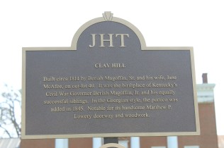 Historical markers help identify some of the antebellum-type houses on Beaumont St.