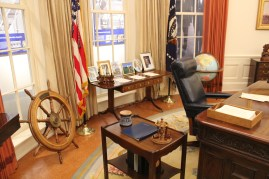 Recreation of Ford's Oval Office. I guess he was big into pipe smoking...