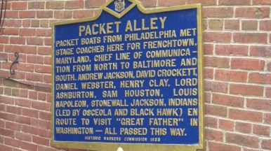 Our history lesson about Packet Alley.