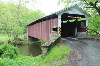 Mercer's Mill covered bridge. Many of these bridges go by many names, mostly based on previous owner's names. But you'll quickly get the gist of it, they all appear to be of the same construction and probably builder(s).