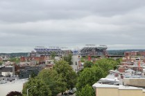 Looking away from the waterfront, you can see the home of the NFL Ravens.