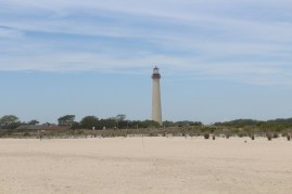 A little farther out view, the lighthouse and beach.