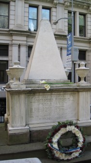 Alexander Hamilton is laid to rest at Trinity.