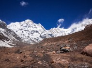 The final push to the plain in front of the Annapurna massif