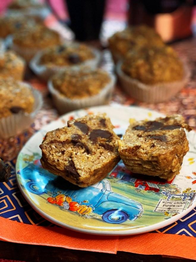 Dark Chocolate Banana Oat Muffins