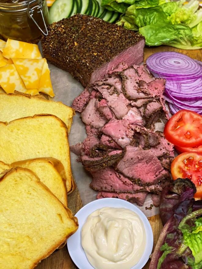 Roast Beef Sandwich Platter