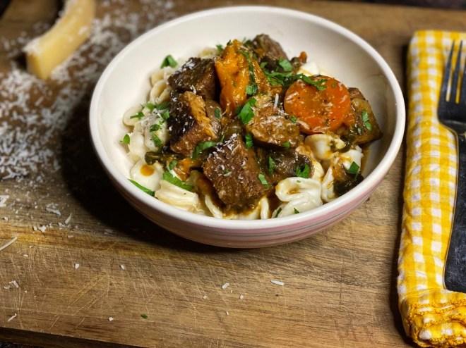 Braised Beef & Sweet Potatoes