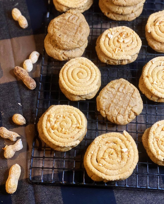 Frosted Peanut Butter Cookies