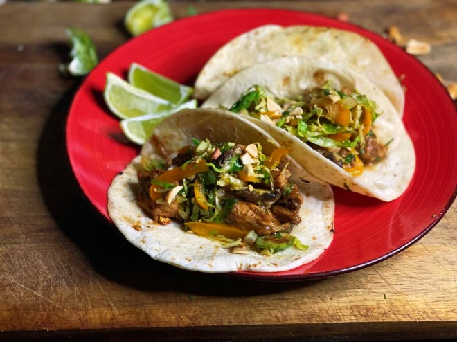 Chicken & Vegetable Stir-fry tacos