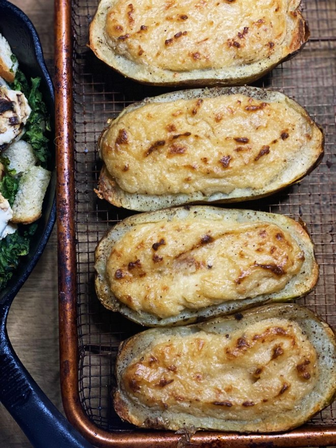 Triple Cream Stuffed Potatoes