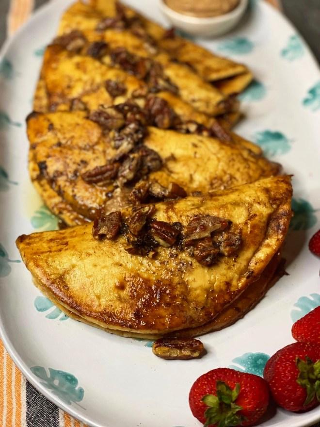 Crispy Custard Pita + Cinnamon Honey Butter