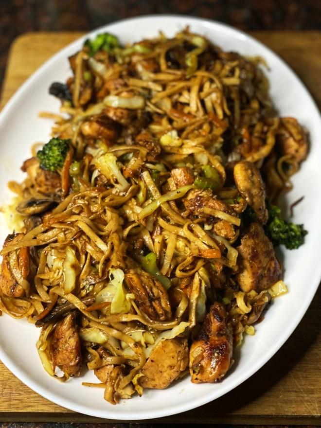 Garlic Chicken Lo Mein