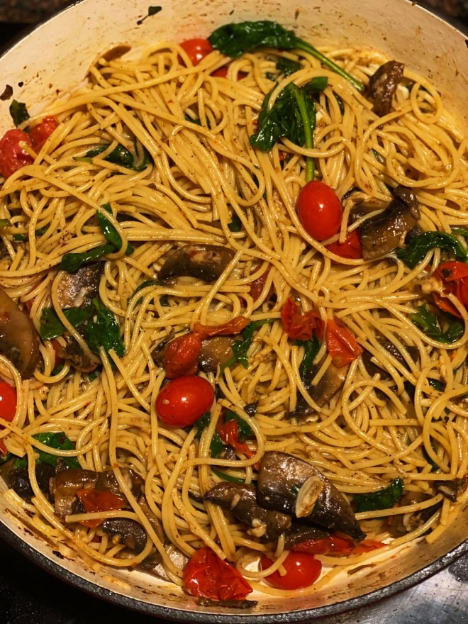 Cherry Tomato and Anchovy Butter Spaghetti