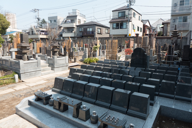 Only in Japan would one find grave sites so neat and orderly.