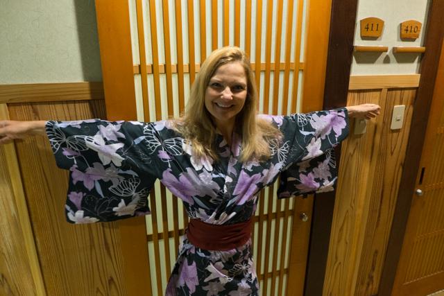 Dinner attire - yukata and obi