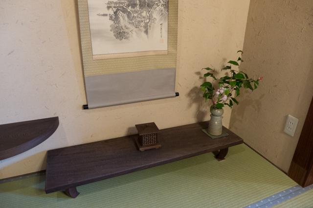 Tokono-ma in our ryokan room