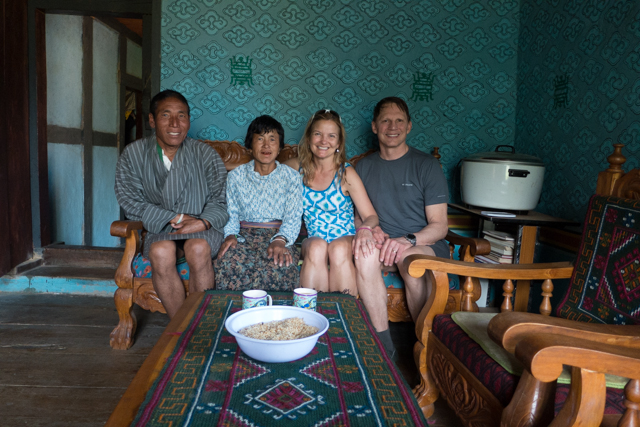 Our hiking route took us within a mile of our Jigme's in-laws, so we decided to drop in.  They were gracious in hosting us.