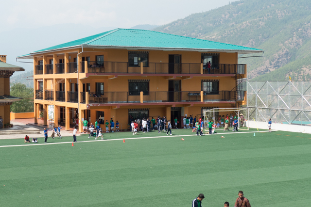 The Druk School, a private school in Thimphu.  Annual tuition is around $1,000.
