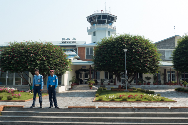 Landed safe and sound at the Pokhara Airport.