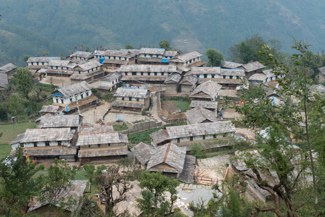 A close-up of Grandruk village.