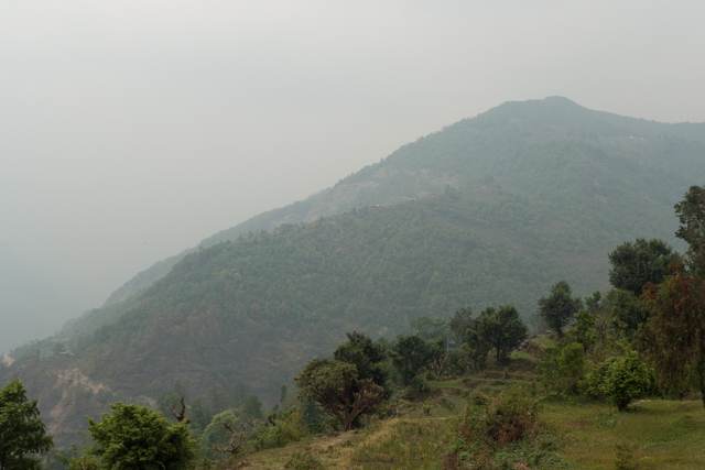 The northern view from the Garung Lodge.  Stunning even though we couldn't see the Annapurna peaks because of the mist.