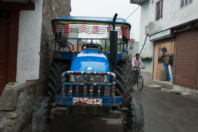 Almost all of the tractors were decorated.