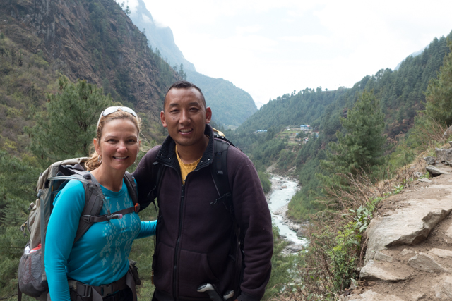 Shauna with our guide, Lhakpa Sona Sherpa.