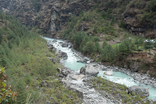 Dudh Kosi River. Reminded us of a John Denver song.