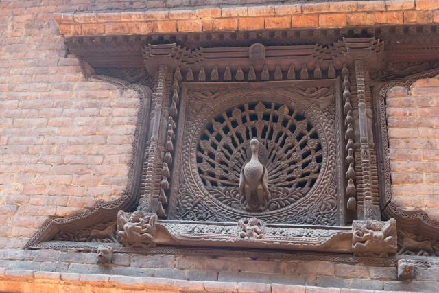 "This ""peacock window"" is supposedly 400 years old."