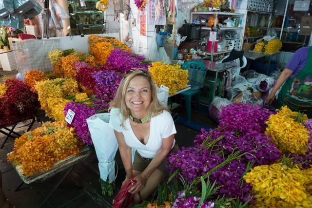 Shauna loves the flower market.