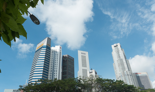 A look at some of Singapore's high rise office buildings.